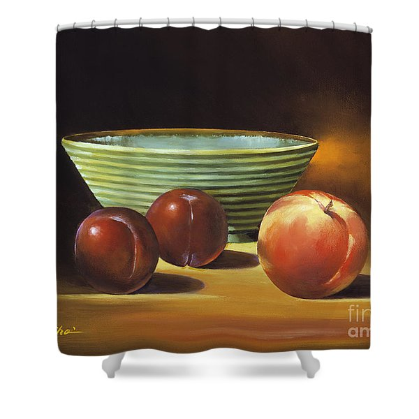 Still Life II Shower Curtain by Han Choi - Printscapes