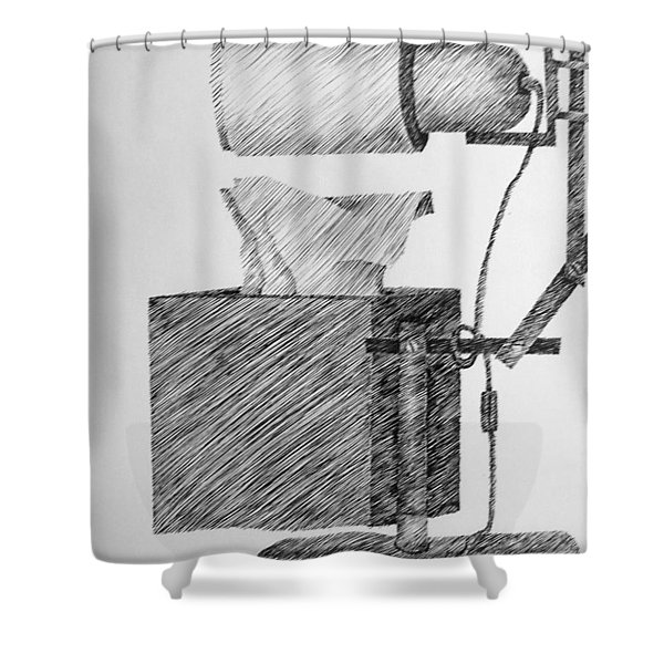 Still Life With Lamp And Tissues Shower Curtain by Michelle Calkins