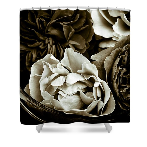 - Still Life With Roses Shower Curtain by Frank Tschakert