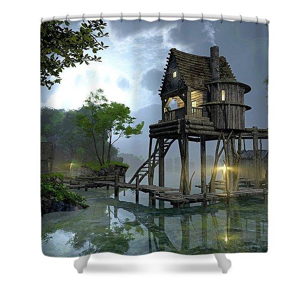 Stillwater Shower Curtain by Cynthia Decker