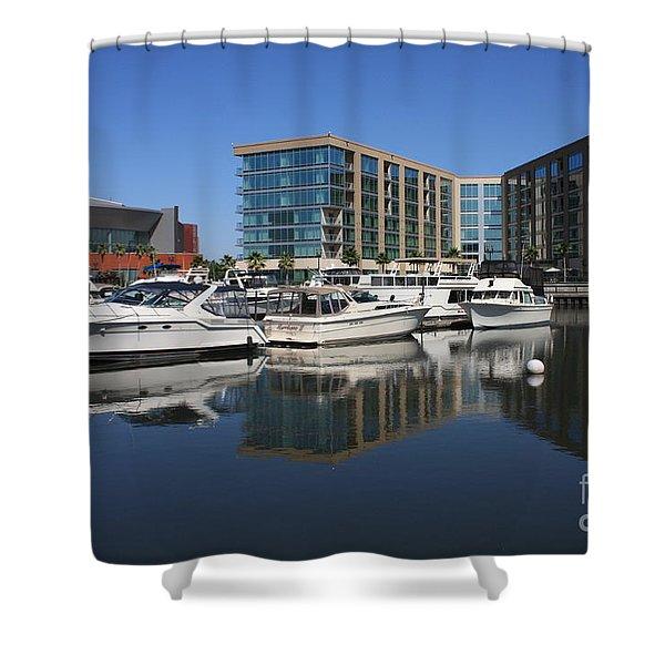 Stockton Waterscape Shower Curtain by Carol Groenen