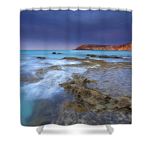 Storm Light Shower Curtain by Mike  Dawson
