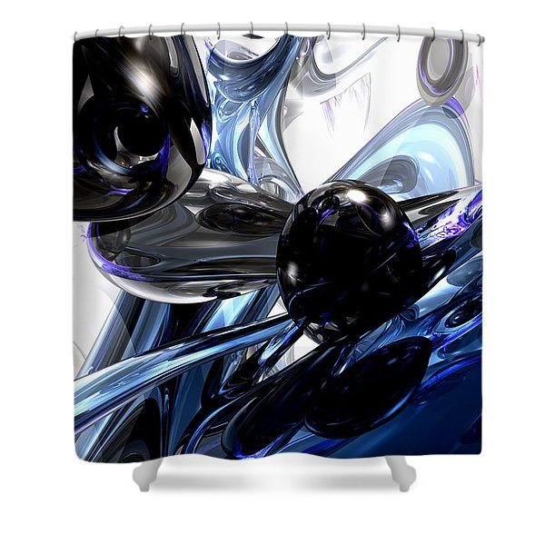 Storm Shadow Abstract Shower Curtain by Alexander Butler