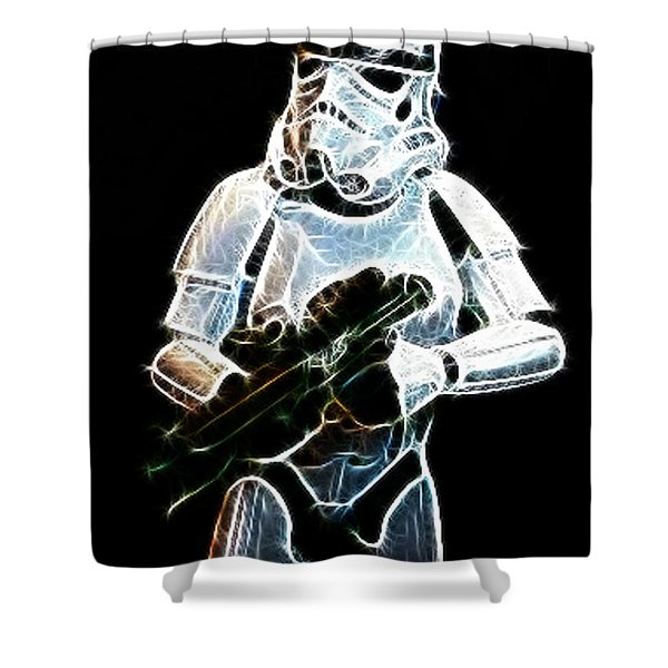 Storm Trooper Shower Curtain by Paul Ward