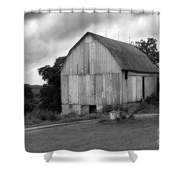 Stormy Barn Shower Curtain by Perry Webster