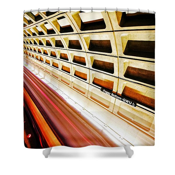 Stronger in the Contrast Shower Curtain by Mitch Cat