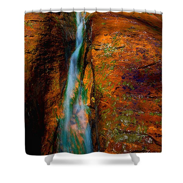 Subway's Fault Shower Curtain by Chad Dutson