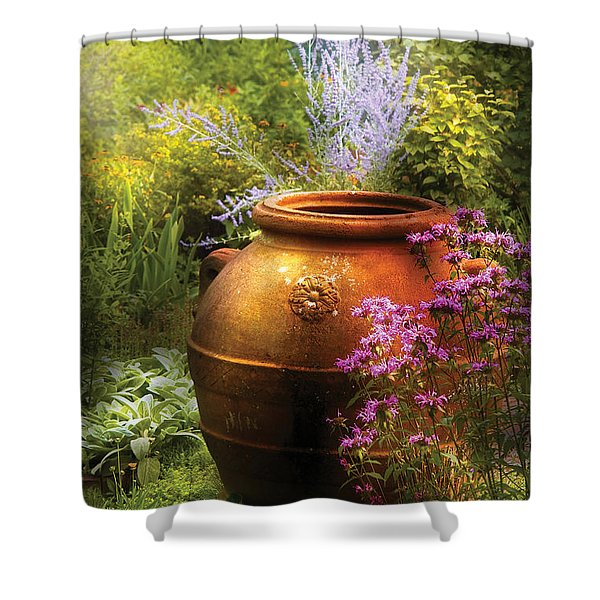 Summer - Landscape - The Urn Shower Curtain by Mike Savad