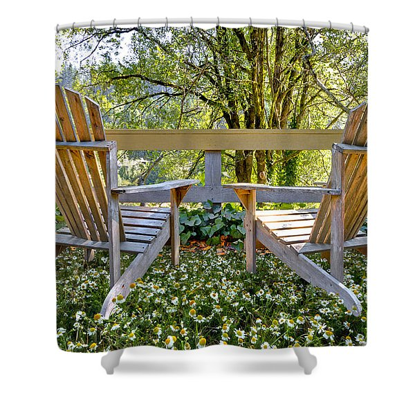 Summertime Shower Curtain by Debra and Dave Vanderlaan