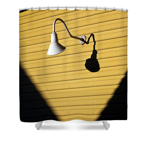 Sun Lamp Shower Curtain by Dave Bowman