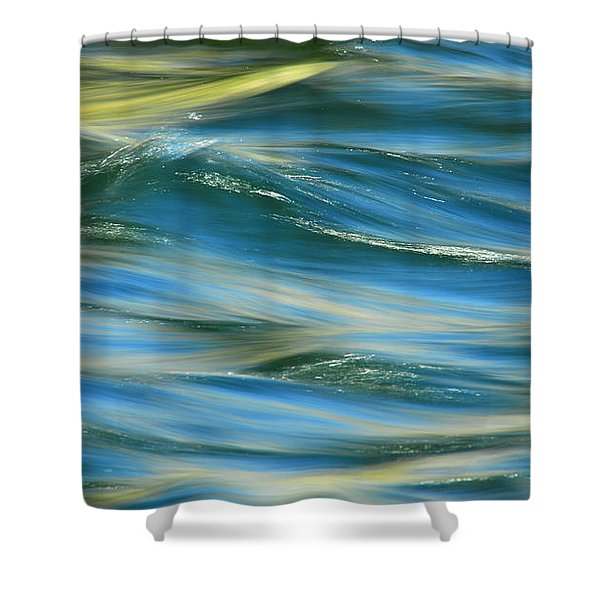 Sunlight Over The River Shower Curtain by Donna Blackhall