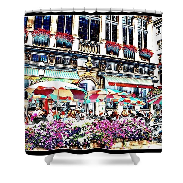 Sunny Day on the Grand Place Shower Curtain by Carol Groenen