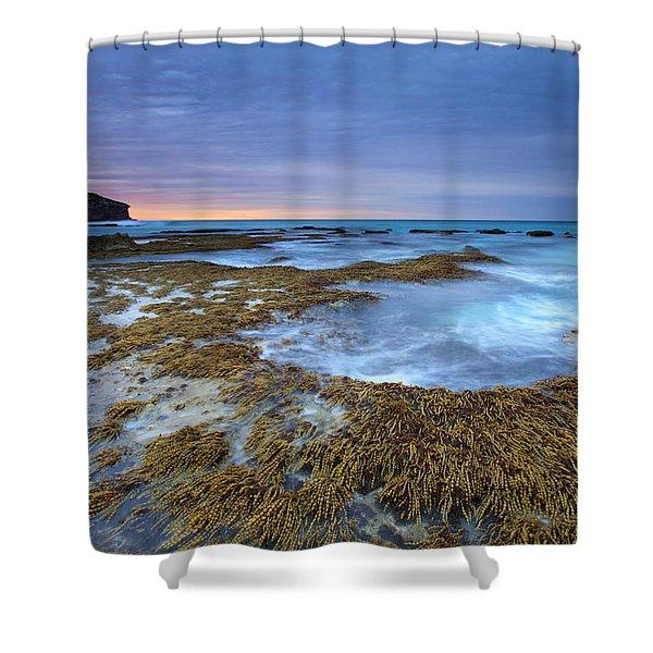 Sunrise Beneath The Storm Shower Curtain by Mike  Dawson