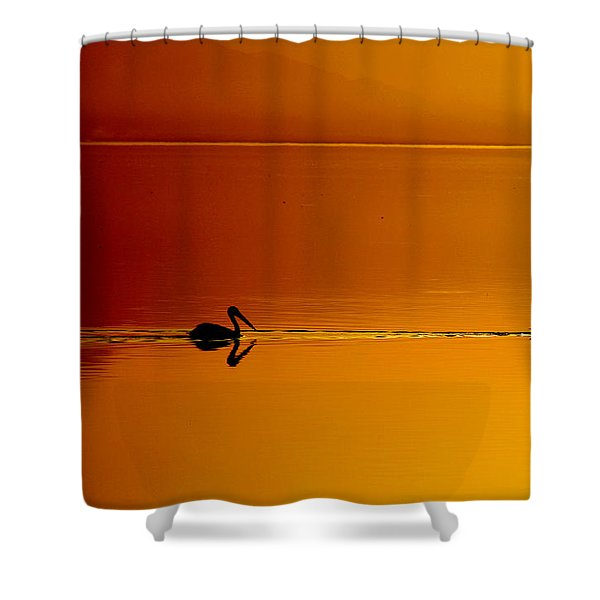 Sunset Cruising Shower Curtain by Laurie Search