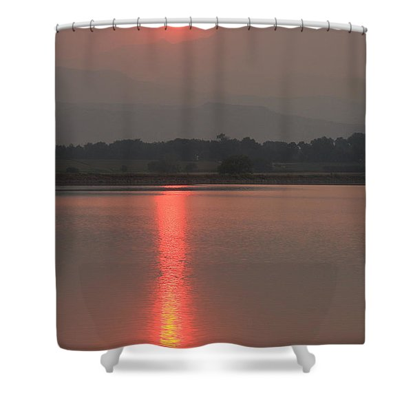 Sunset Fire Shower Curtain by James BO  Insogna