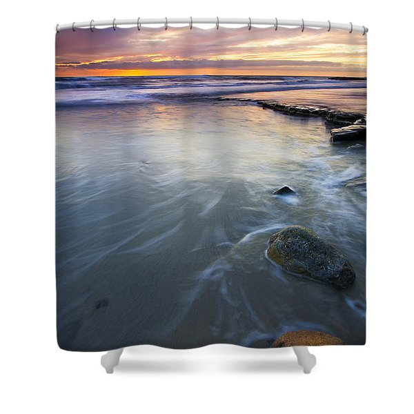 Sunset Storm Shower Curtain by Mike  Dawson