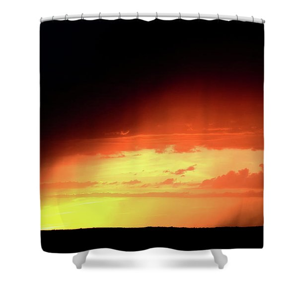 Sunset With Rain In Scenic Saskatchewan Shower Curtain by Mark Duffy