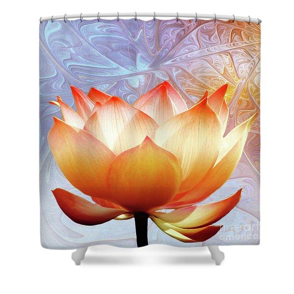Sunshine Lotus Shower Curtain by Photodream Art