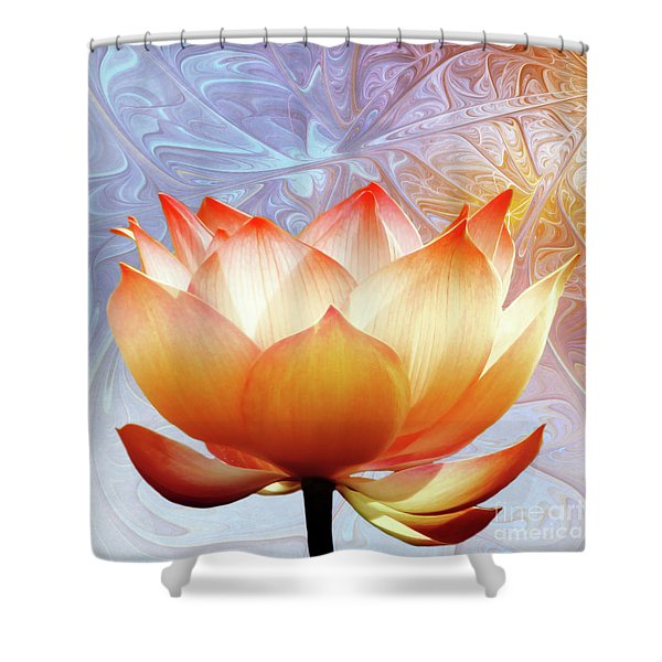 Sunshine Lotus Shower Curtain by Photodream Art