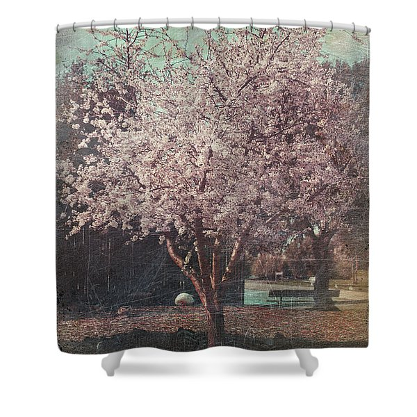 Sweet Kisses Under The Tree Shower Curtain by Laurie Search