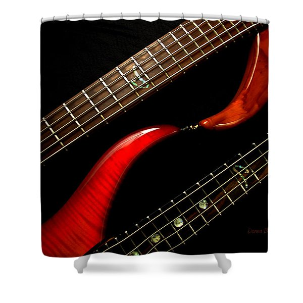 Sweet Refrain Shower Curtain by Donna Blackhall