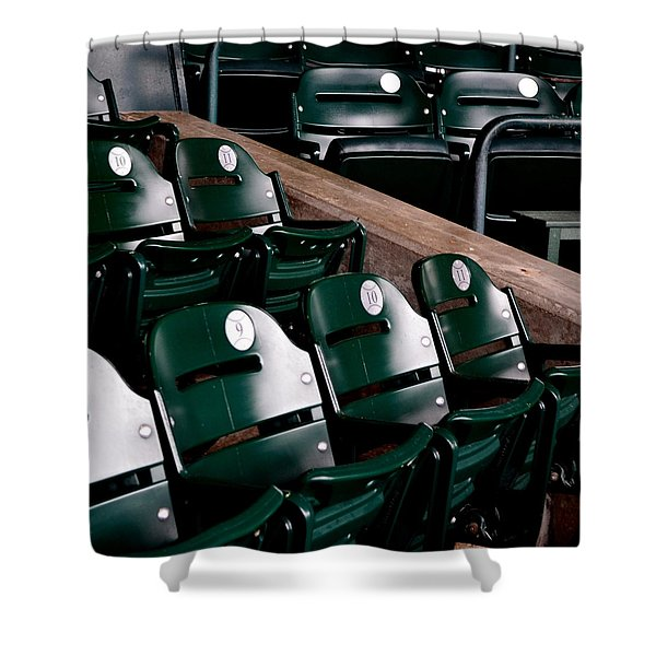 Take Me Out to the Ball Game Shower Curtain by Michelle Calkins