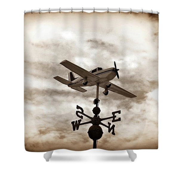 Take Me to the Pilot Shower Curtain by Bill Cannon