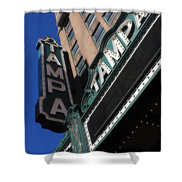 Tampa Theatre Shower Curtain by Carol Groenen