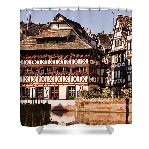 Tanners House Strasbourg Shower Curtain by Louise Heusinkveld
