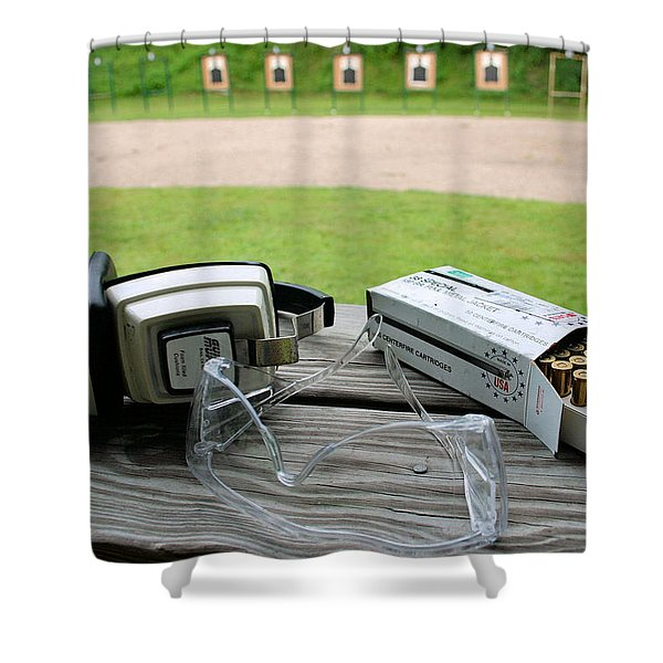 Target Practice Shower Curtain by Kristin Elmquist
