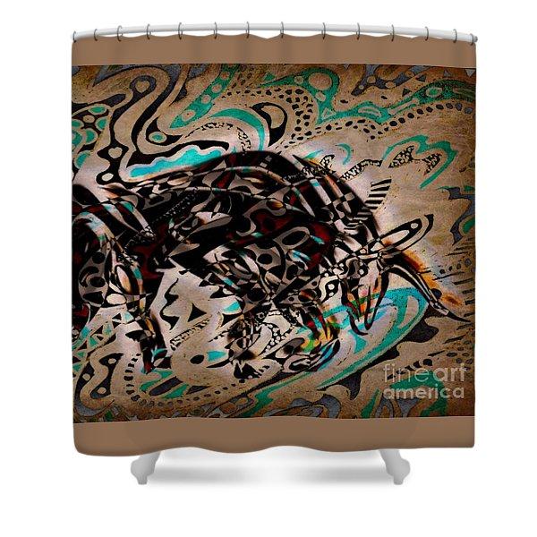 Taurus Shower Curtain by WBK