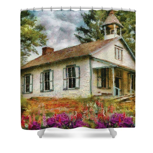Teacher - The School House Shower Curtain by Mike Savad