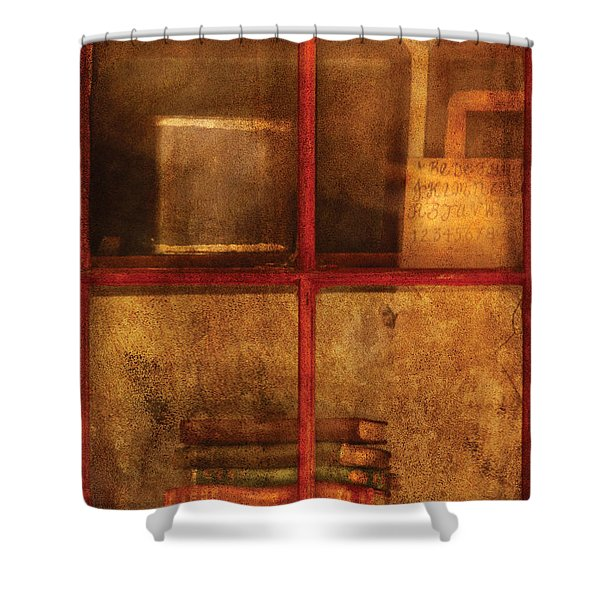 Teacher - School Books Shower Curtain by Mike Savad
