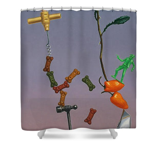 Tenuous Still-life 3 Shower Curtain by James W Johnson