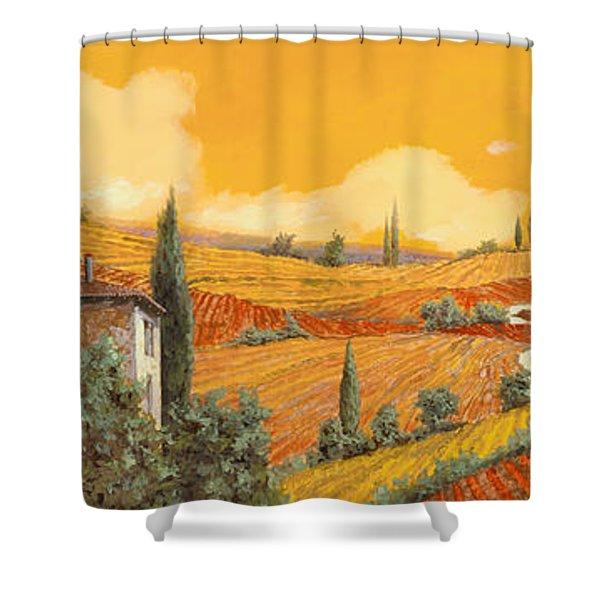 terra di Siena Shower Curtain by Guido Borelli