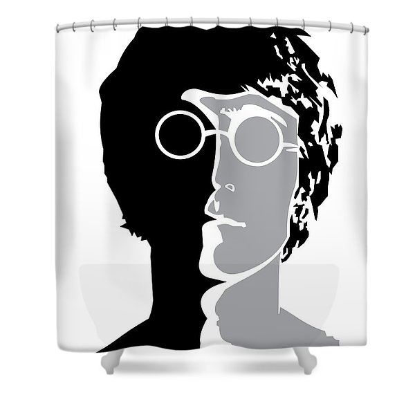 The Beatles No.08 Shower Curtain by Caio Caldas