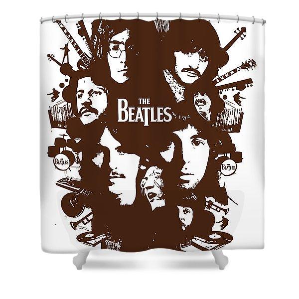 The Beatles No.15 Shower Curtain by Caio Caldas