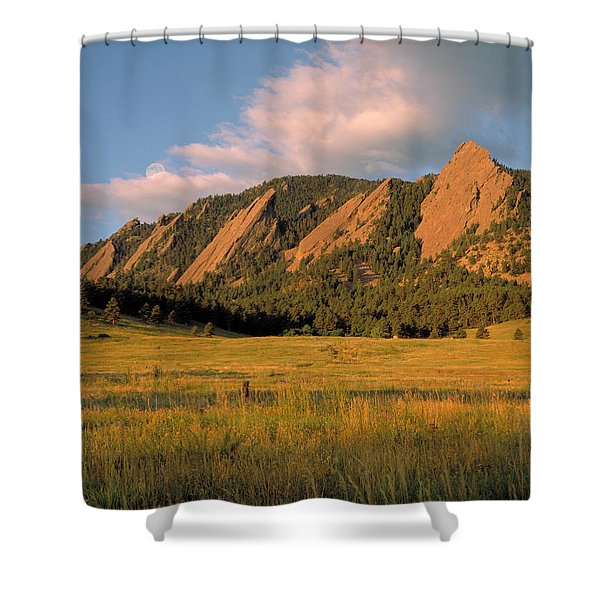 The Boulder Flatirons Shower Curtain by Jerry McElroy