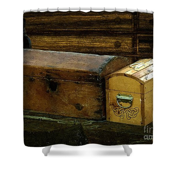The Captain's Cabin Shower Curtain by RC DeWinter
