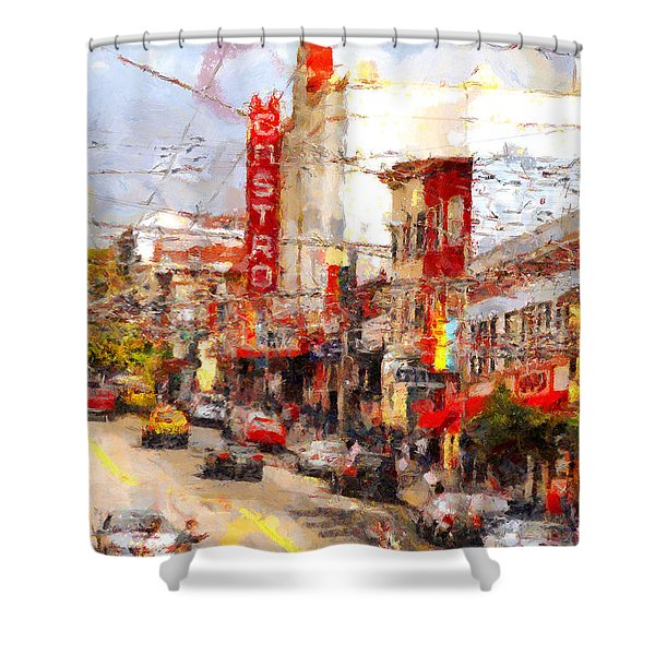 The Castro In San Francisco . 7d7572 Shower Curtain by Wingsdomain Art and Photography
