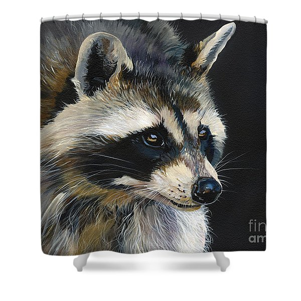 The Cat Food Bandit Shower Curtain by J W Baker
