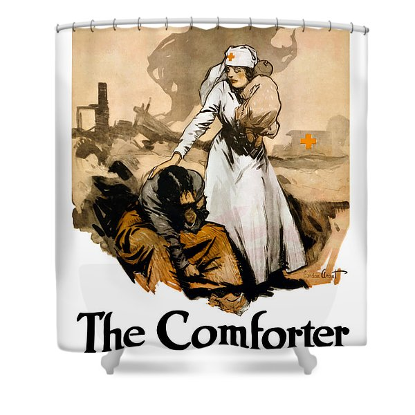 The Comforter Shower Curtain by War Is Hell Store