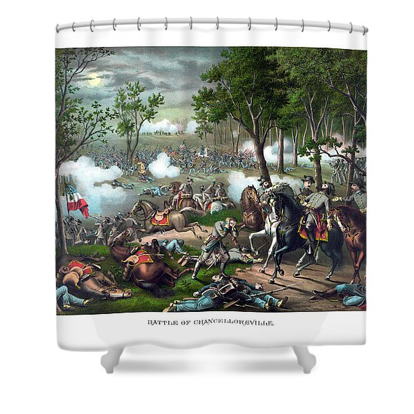 The Death Of Stonewall Jackson Shower Curtain by War Is Hell Store