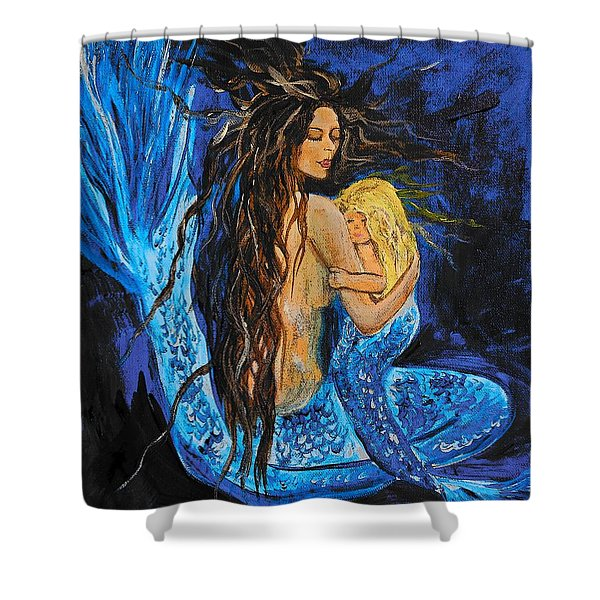 The Deepest Love Series 2 Shower Curtain by Leslie Allen