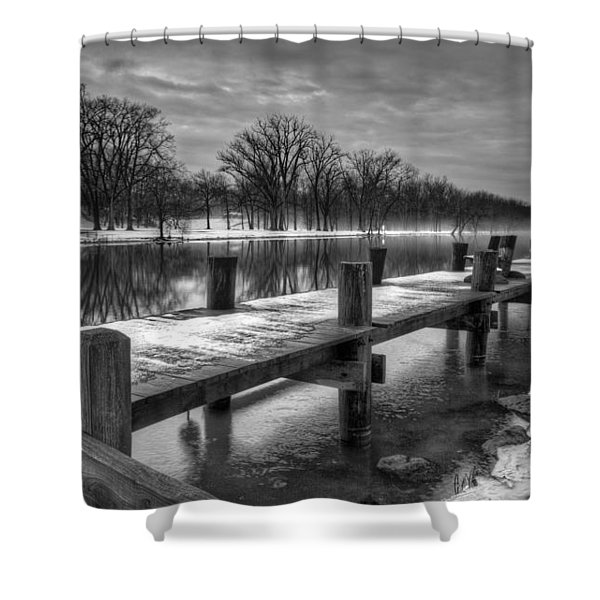 The Dock Shower Curtain by Everet Regal