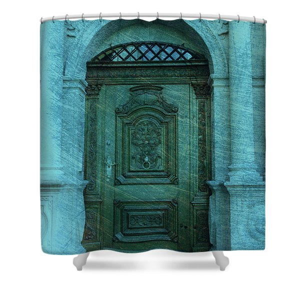 The Door to The Secret Shower Curtain by Susanne Van Hulst