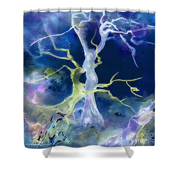 The Fall Of Sodom Shower Curtain by Miki De Goodaboom