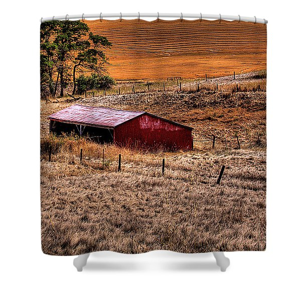 The Farm Shower Curtain by David Patterson