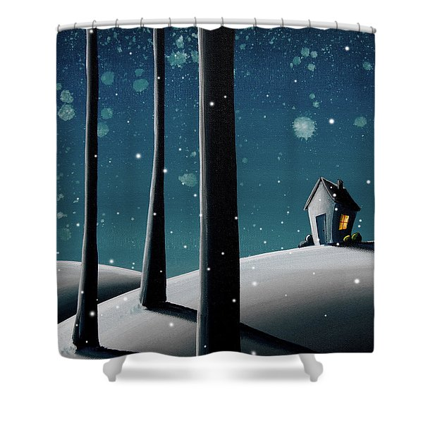 The Frost Shower Curtain by Cindy Thornton