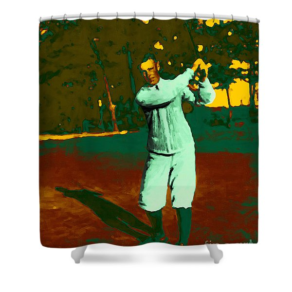 The Golfer - 20130208 Shower Curtain by Wingsdomain Art and Photography